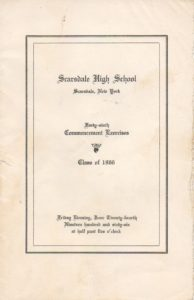SHS Commencement Program 1966