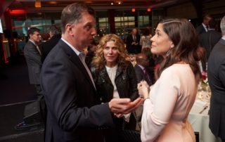 Gala guests mingling.