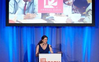 Jeannie Lang Rosenthal speaking.