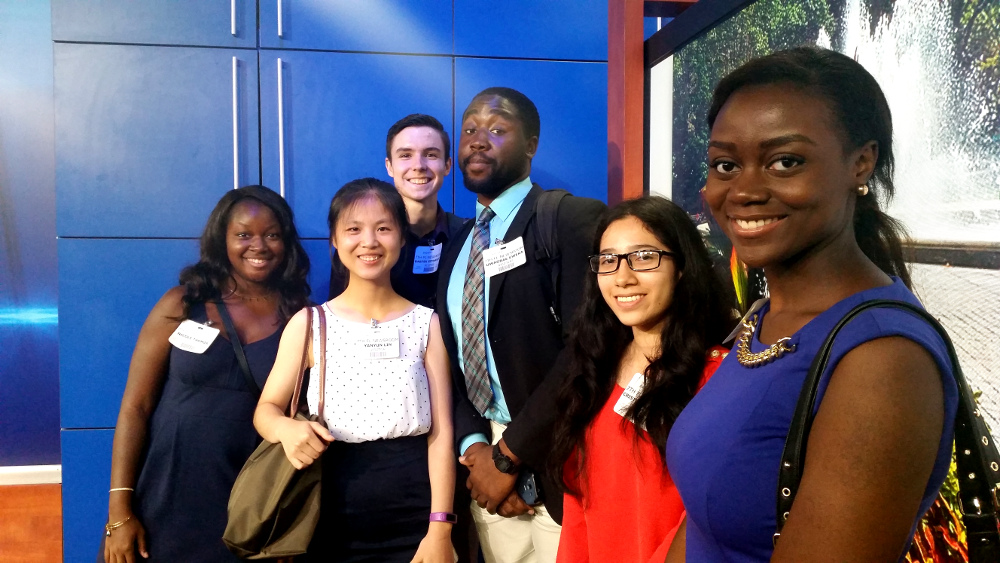 Students attend an Exective Tour of NBC