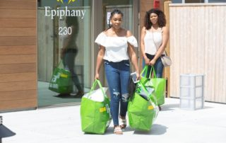 Students leave Epiphany with their Grad Bags.