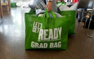 A Grad Bag, filled with supplies.