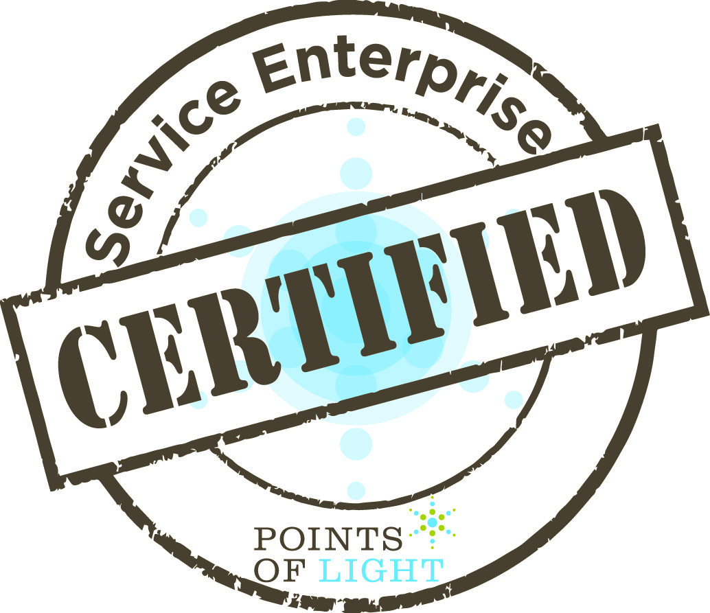 Points of Light Service Enterprise Certification seal